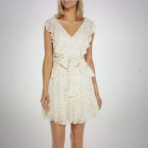 WAYF RUFFLE FLORAL DRESS